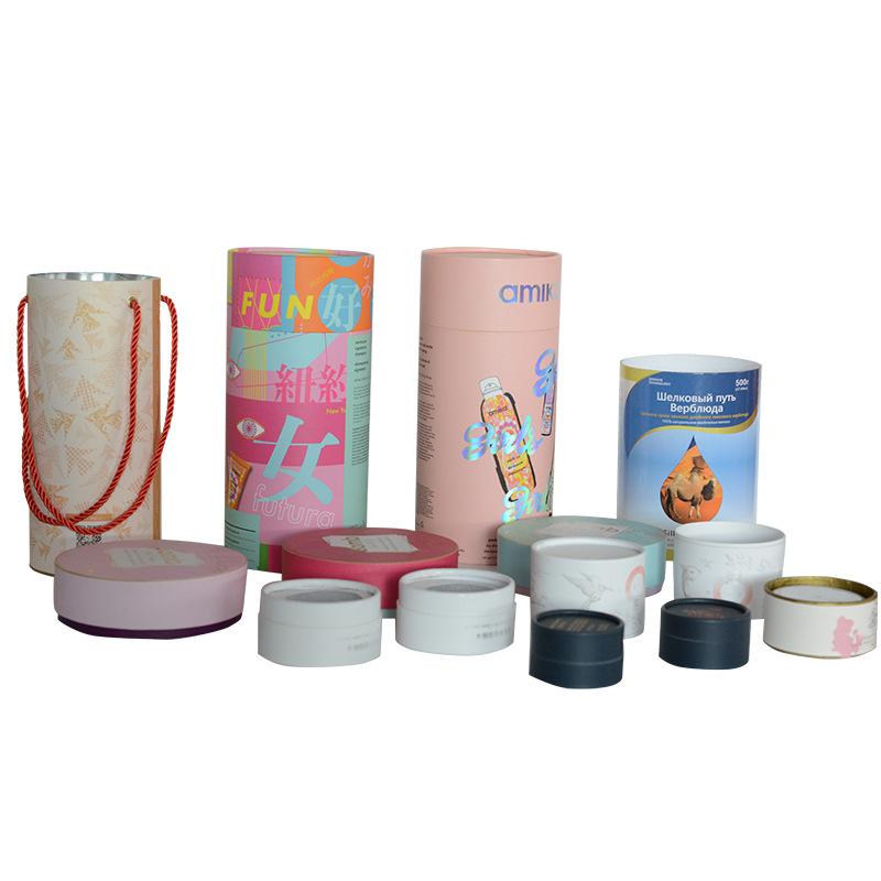 定制创意印刷天地盖圆形纸罐精油护肤品圆筒食品包装烫金UV纸筒